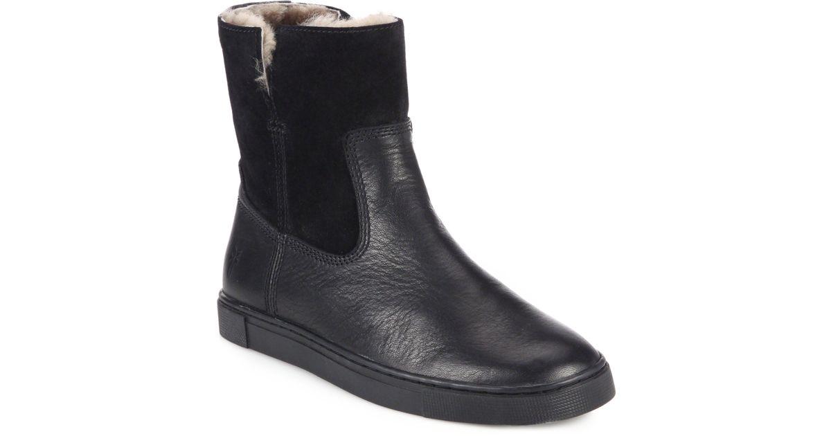 Frye Gemma Shearling-lined Leather