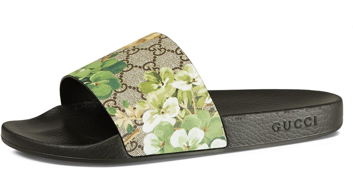 be29b5acea831 ... Lyst - Gucci Pursuit Blooms Printed Sandal new products 090dc bcd81  Gucci  GG ...