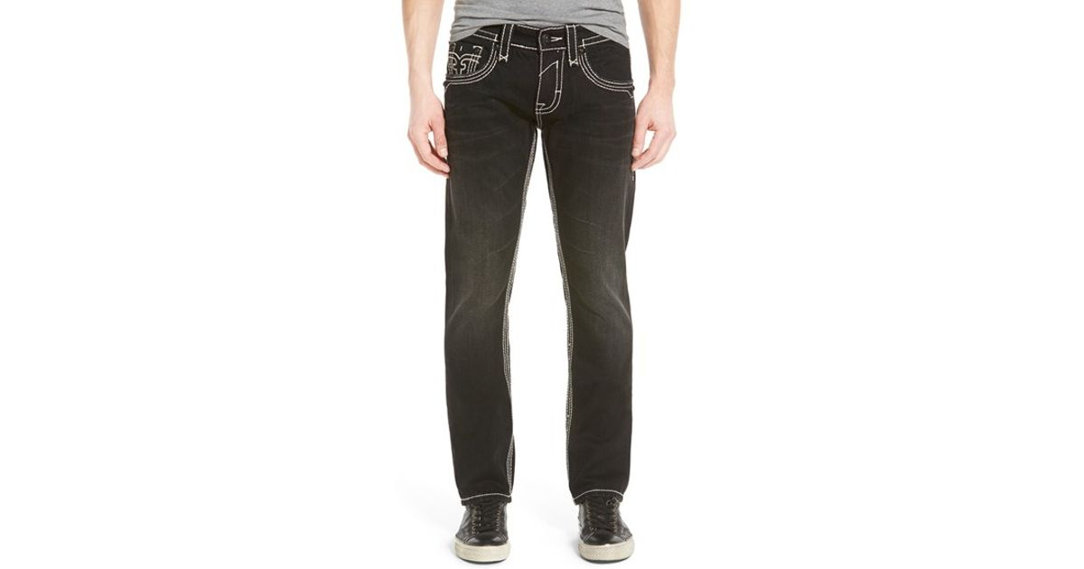 0d0348bf Rock Revival 'dan' Alternative Straight Leg Jeans in Black for Men - Lyst
