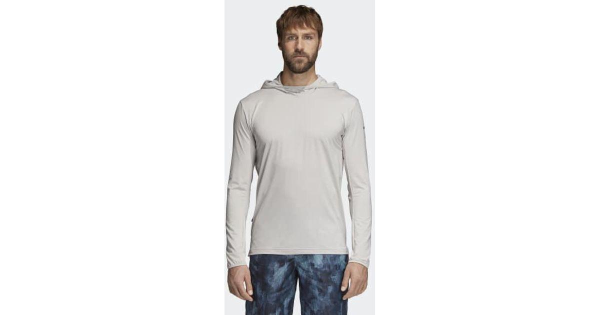 Lyst Adidas Voyager Hoodie in Grau für Männer