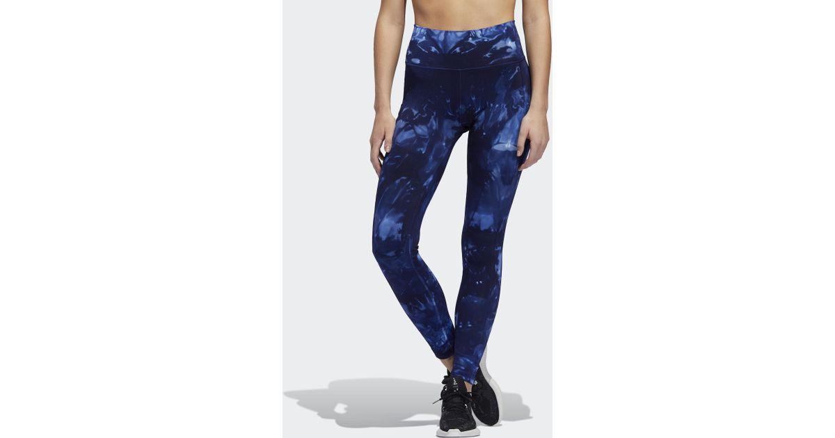 Adidas Blue Believe This Parley 78 Leggings Lyst