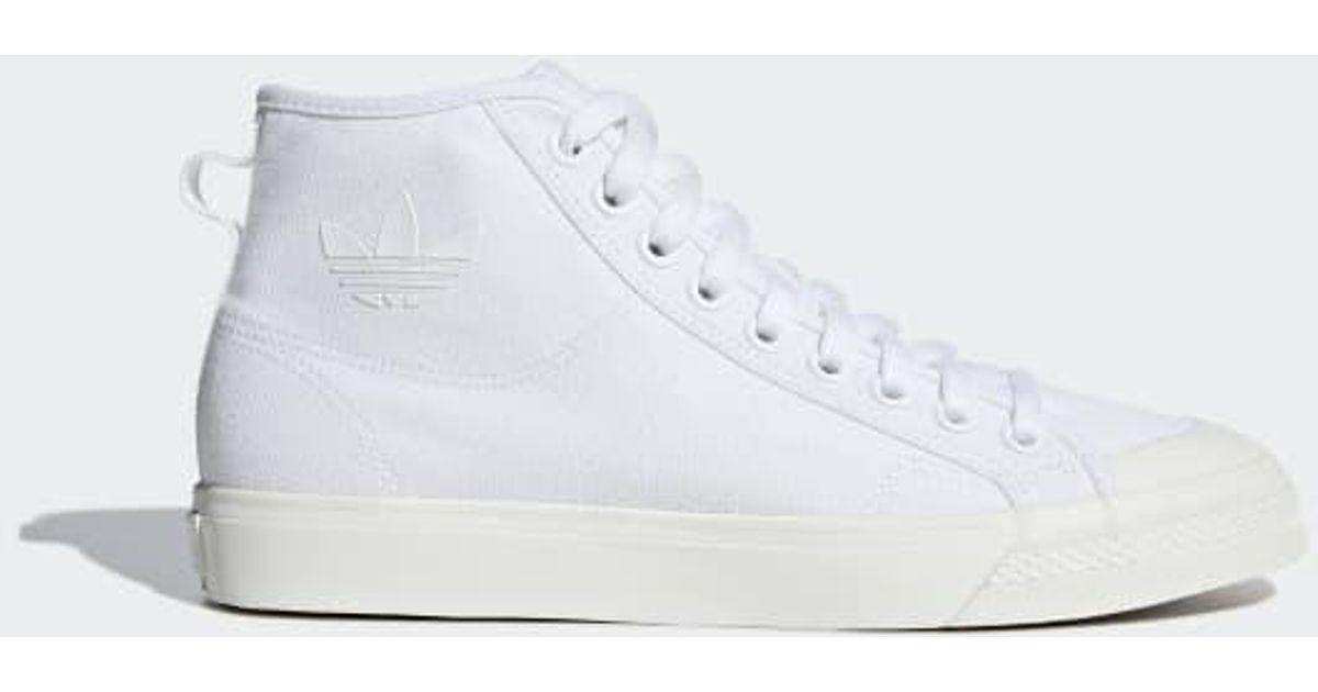 fc4c0001c03de9 Lyst - adidas Nizza High Top Shoes in White for Men