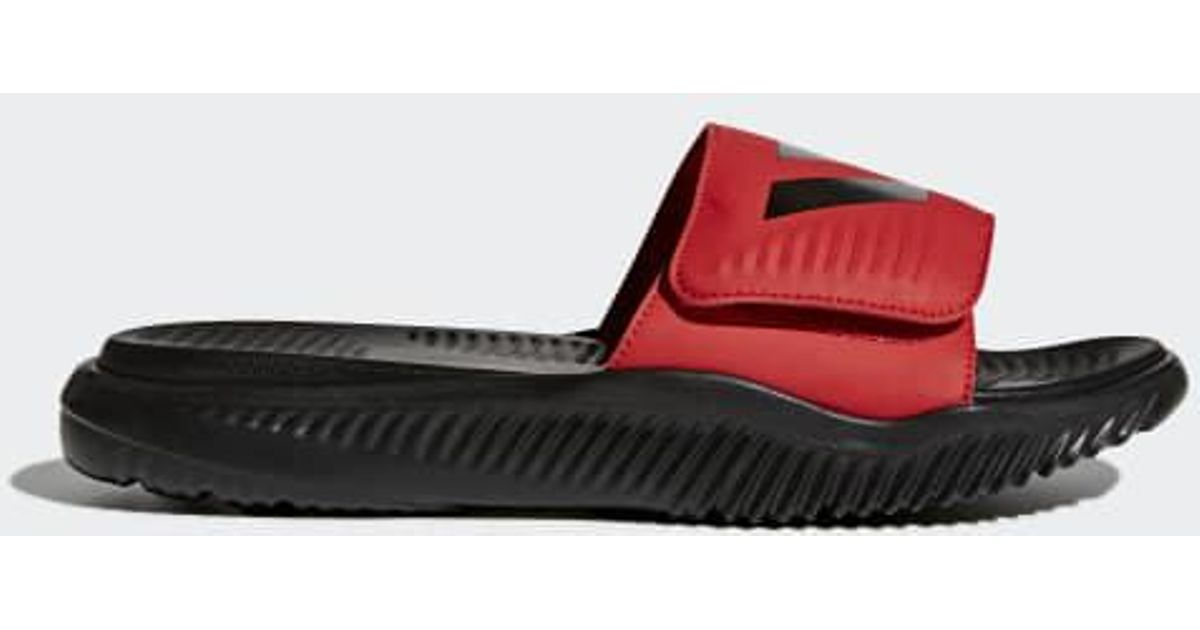 27984b2b2cf2 Lyst - adidas Alphabounce Basketball Slides in Red for Men