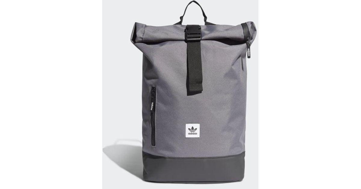 Gray Essentials Premium Roll top Adidas Backpack IYbyfg7v6