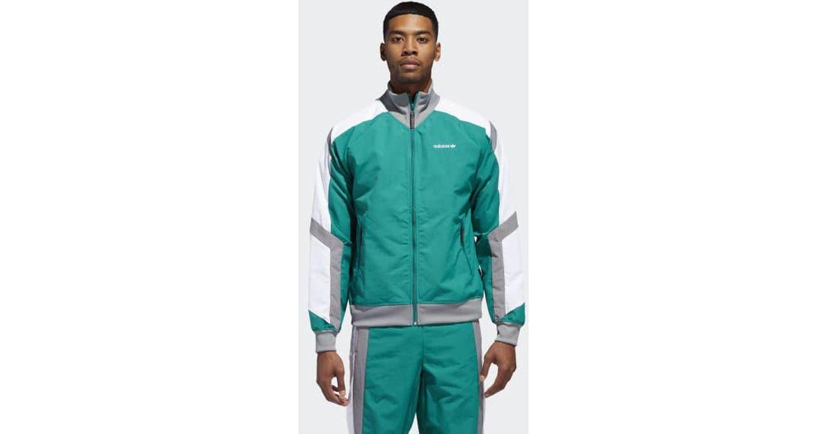 Adidas Green Eqt Block Windbreaker Jacket for men