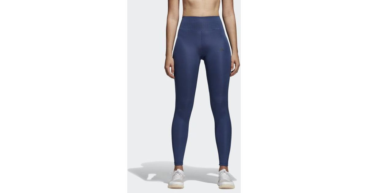 0a4a7b0675dc3 Lyst - adidas Ultimate Climalite Long Tights in Blue