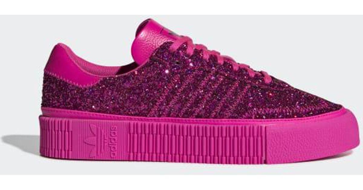 836d80478af Lyst - adidas Sambarose Shoes in Pink
