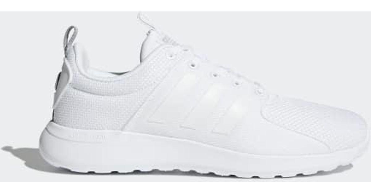 Adidas White Cloudfoam Lite Racer Shoes for men