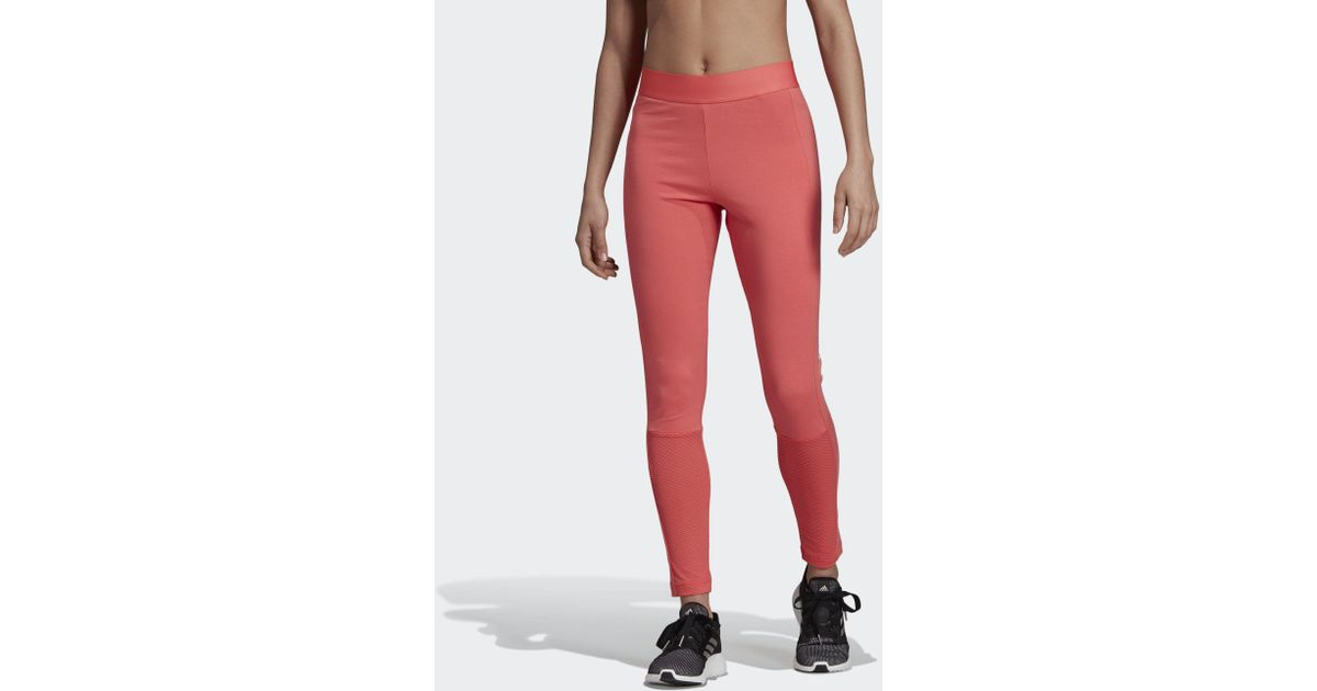 582b4ec75bf0c adidas Sport Id Mesh Tights in Red - Lyst