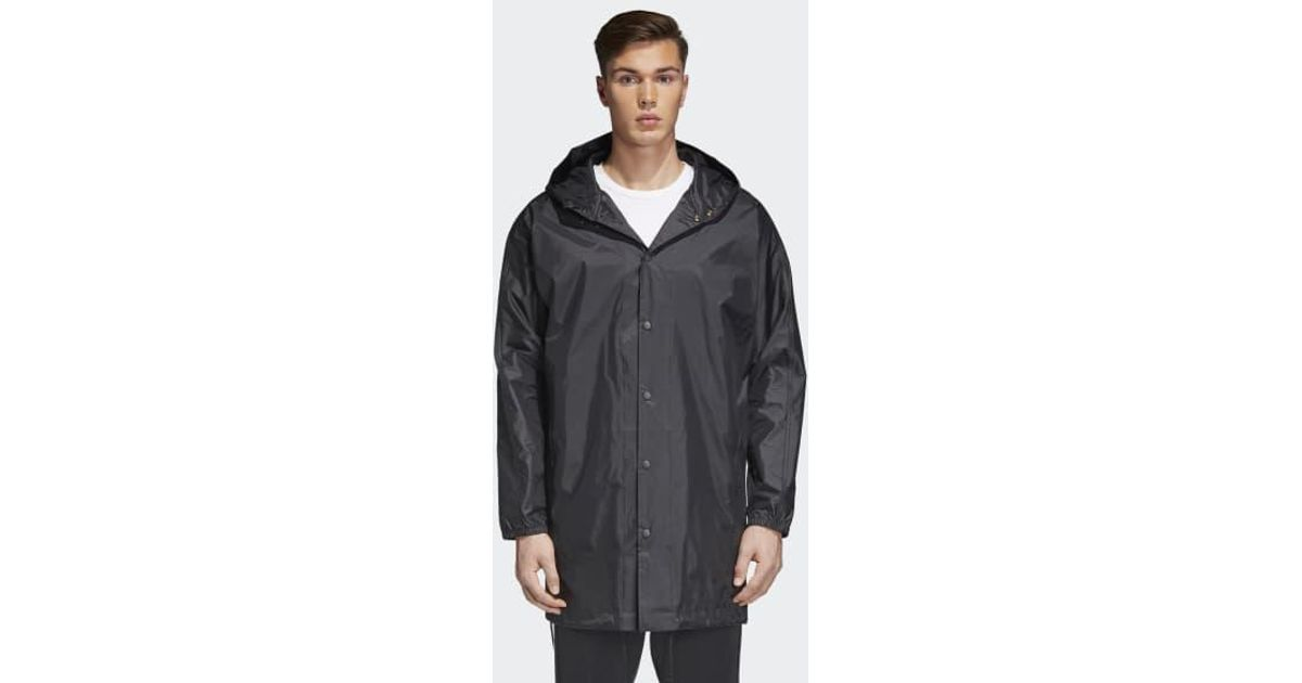 Lyst - adidas Trefoil Manager Coat in Black for Men 3720d1ba2c2