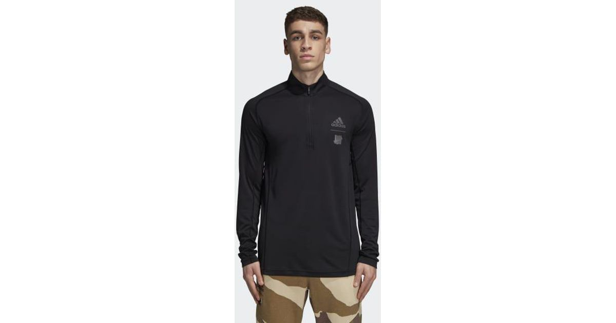 d786ede696351 Lyst - Adidas X Undefeated Running Half-zip in Black for Men