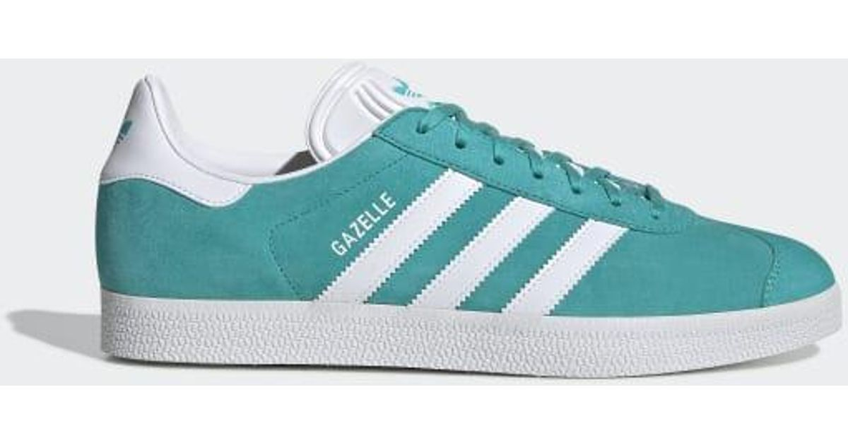 adidas Suede Gazelle Shoes in Turquoise