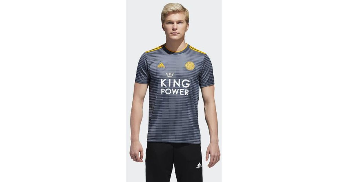 30ca9862b Lyst - adidas Leicester City Away Jersey in Gray for Men