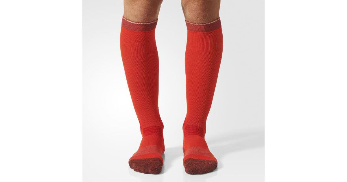 07d1af070a adidas Running Energy Compression Socks 1 Pair in Red for Men - Lyst