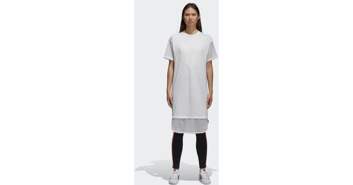 a6290faf977 Lyst - adidas Clrdo Tee Dress in White