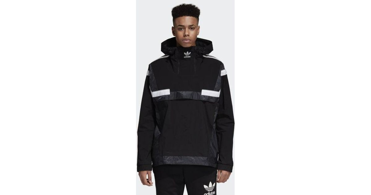 Adidas Black Br8 Pullover Windbreaker for men