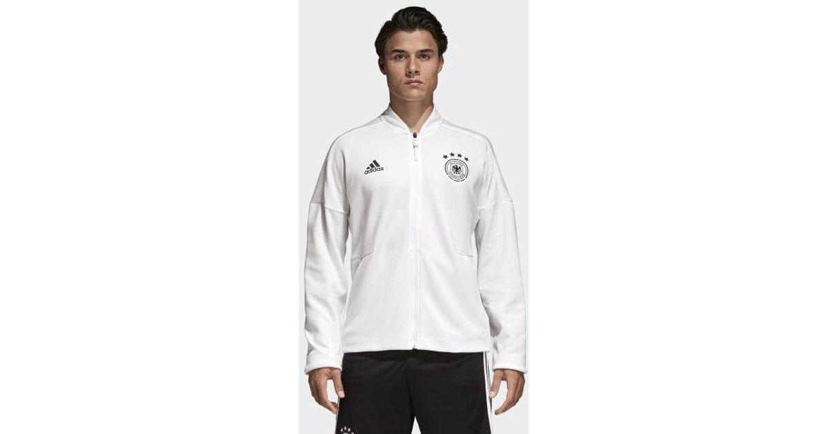 e4b78117e6 Adidas White Germany Z.n.e. Anthem Jacket for men