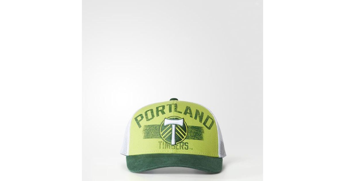 d675b952a09 Lyst - adidas Portland Timbers Trucker Hat in Green for Men