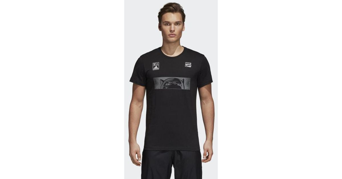 ac01be241 Lyst - adidas Marvel Black Panther Tee in Black for Men