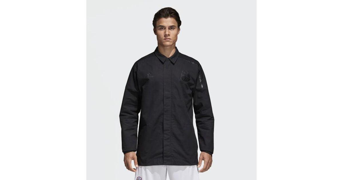 cb3e8aca37 Adidas Black Mexico Z.n.e. Anthem Jacket for men