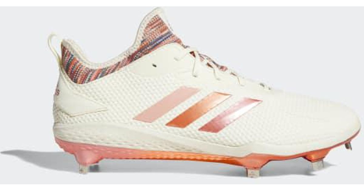 b3c7459903 Adidas White Adizero Afterburner V Pride Cleats for men