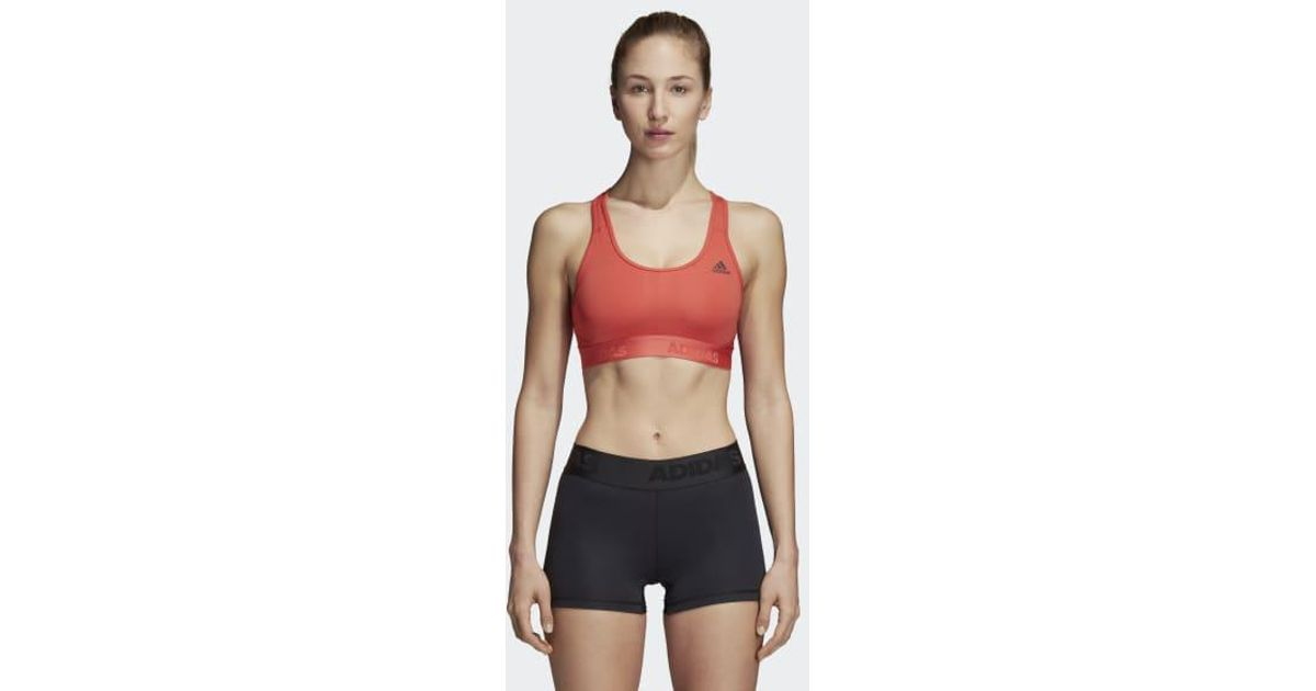 online store 772d5 2843e Lyst - Adidas Dont Rest Alphaskin Sports Bra in Red