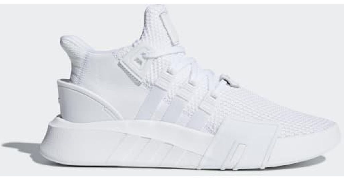 free shipping 4ebde 80f73 Adidas - White Eqt Bask Adv Shoes for Men - Lyst