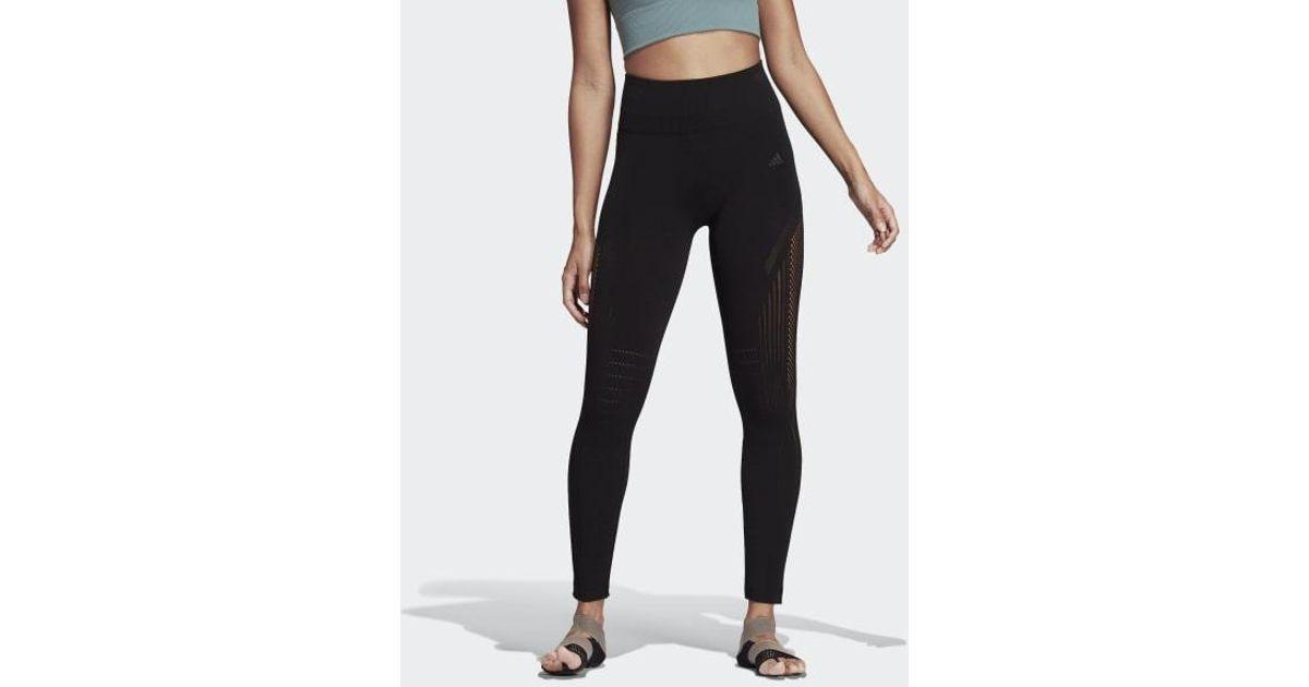 67305747fbc10 adidas Warp Knit High-rise 7/8 Tights in Black - Lyst