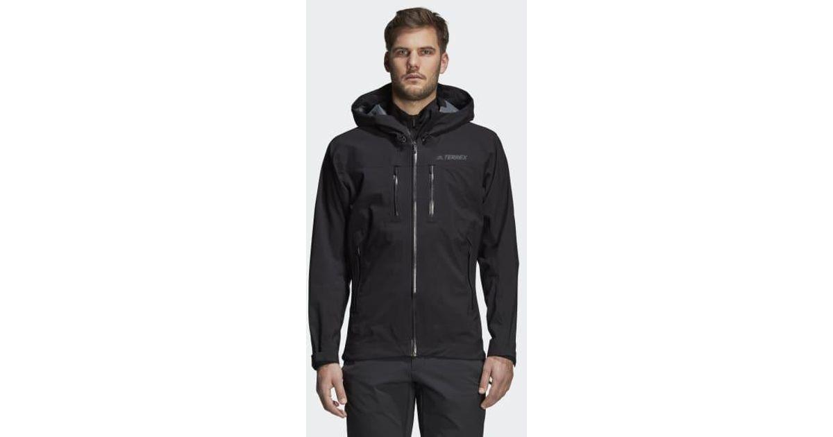 Adidas Black Parley Three layer Jacket for men