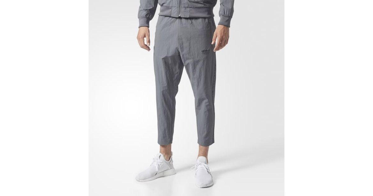 e531fc58b44aa Lyst - Adidas Utility 7 8 Track Pants in Gray for Men
