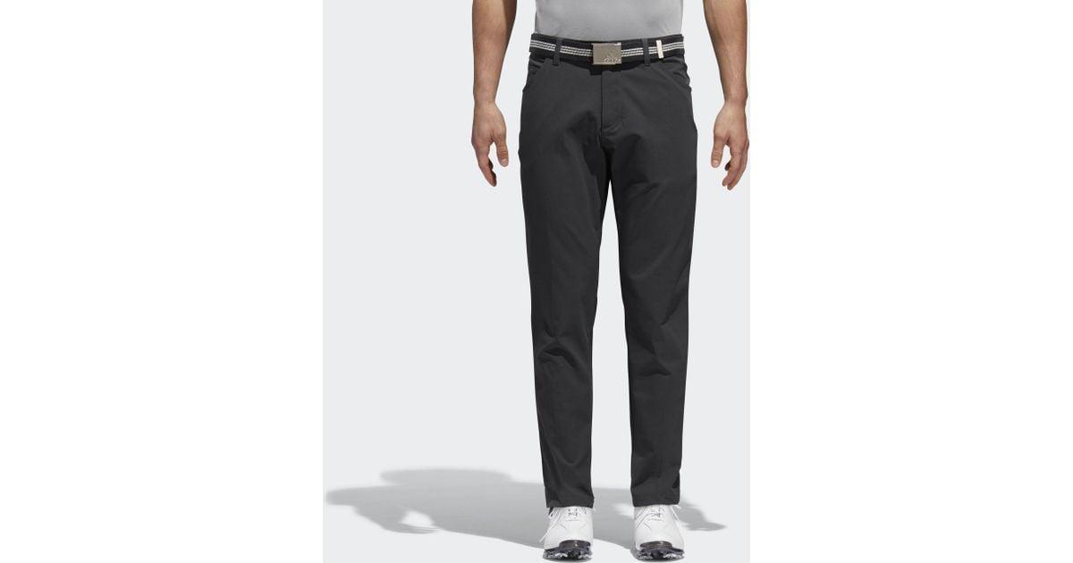 d71a4a811204 Adidas Black Adicross Beyond 18 Slim 5-pocket Pants for men
