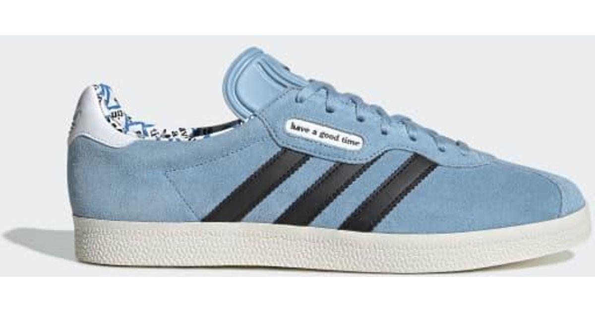 adidas Hagt Gazelle Super Shoes in Blue