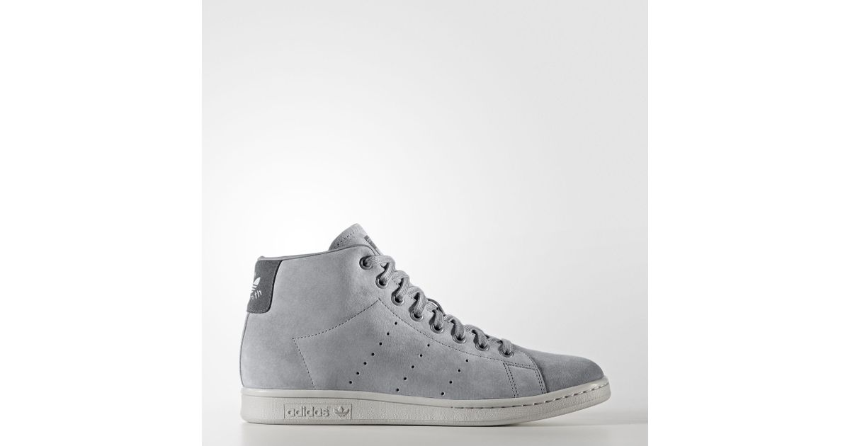 Lyst - adidas Stan Smith Mid Shoes in Gray for Men 135b076b9366