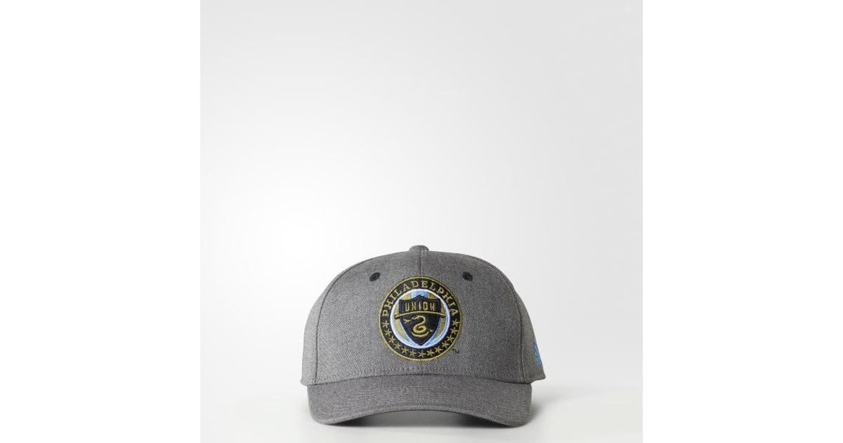 save off 6a5eb 14dd5 Lyst - adidas Philadelphia Union Structured Hat in Gray for Men