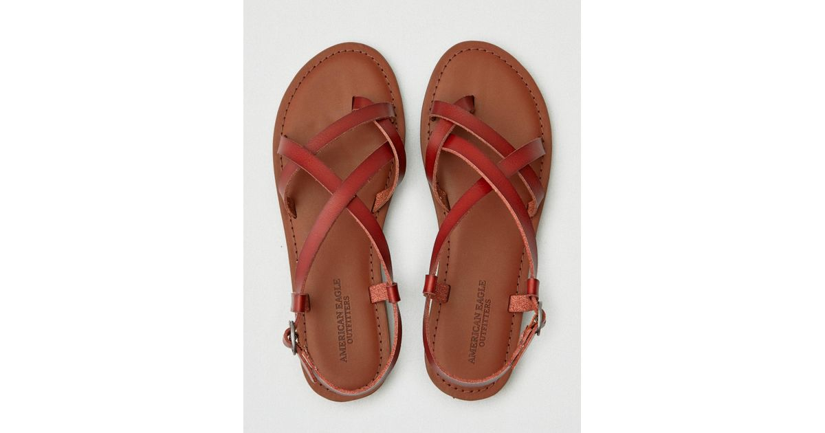 0d85586ffb4 American Eagle Brown Strappy Sandal