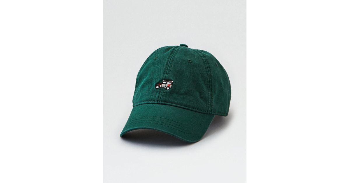 Lyst - American Eagle Ae Embroidered Truck Dad Hat in Green for Men 51fe1e38b7b