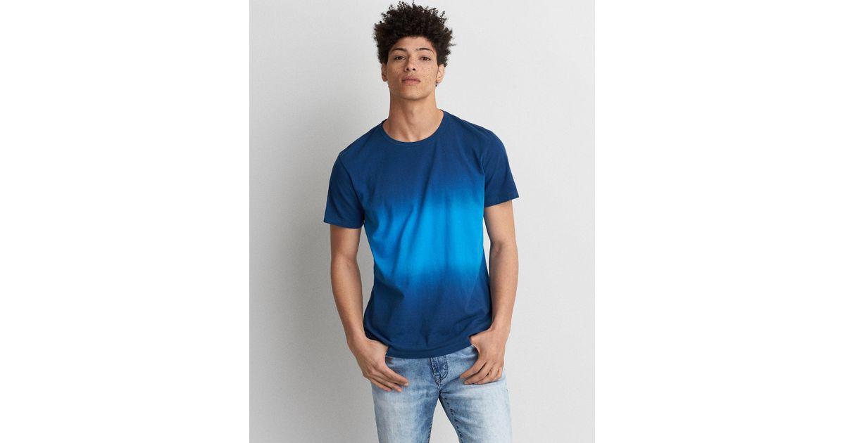 c90c282c American Eagle Flex Dyed Crew T-shirt in Blue for Men - Lyst