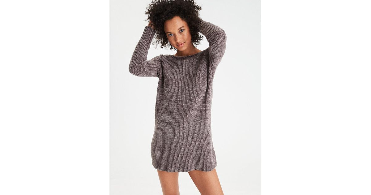 0b763c9f0cd Lyst American Eagle Ae Ahh Mazingly Soft Chenille Sweater Dress In