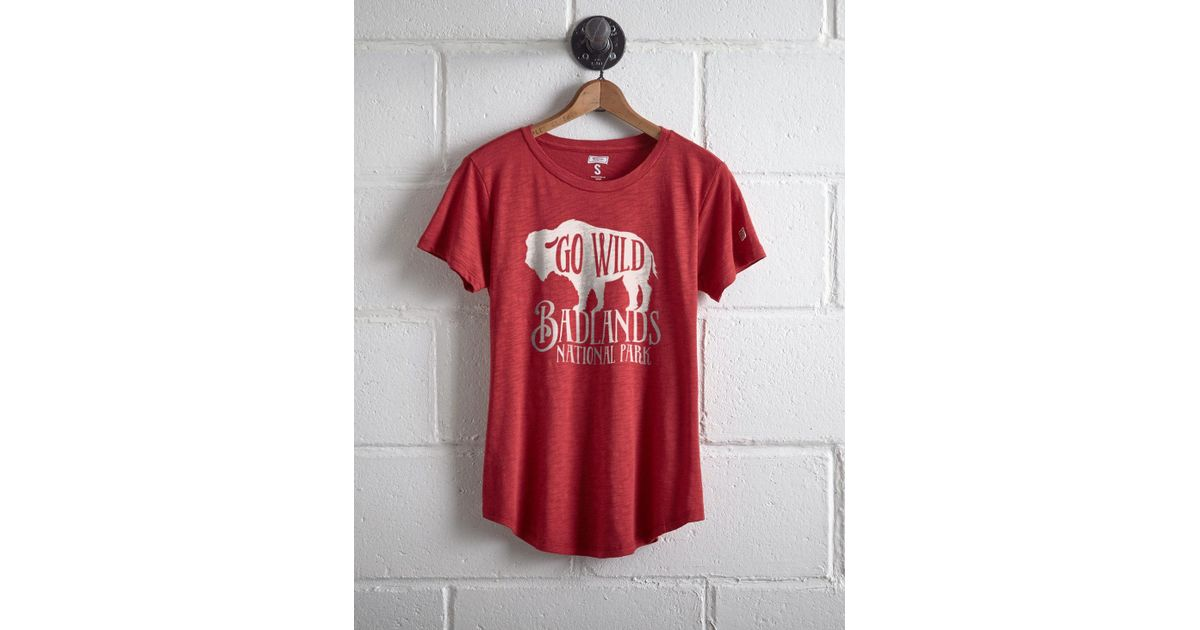 3f27ab14a89cd Tailgate - Red Women's Badlands National Park T-shirt - Lyst