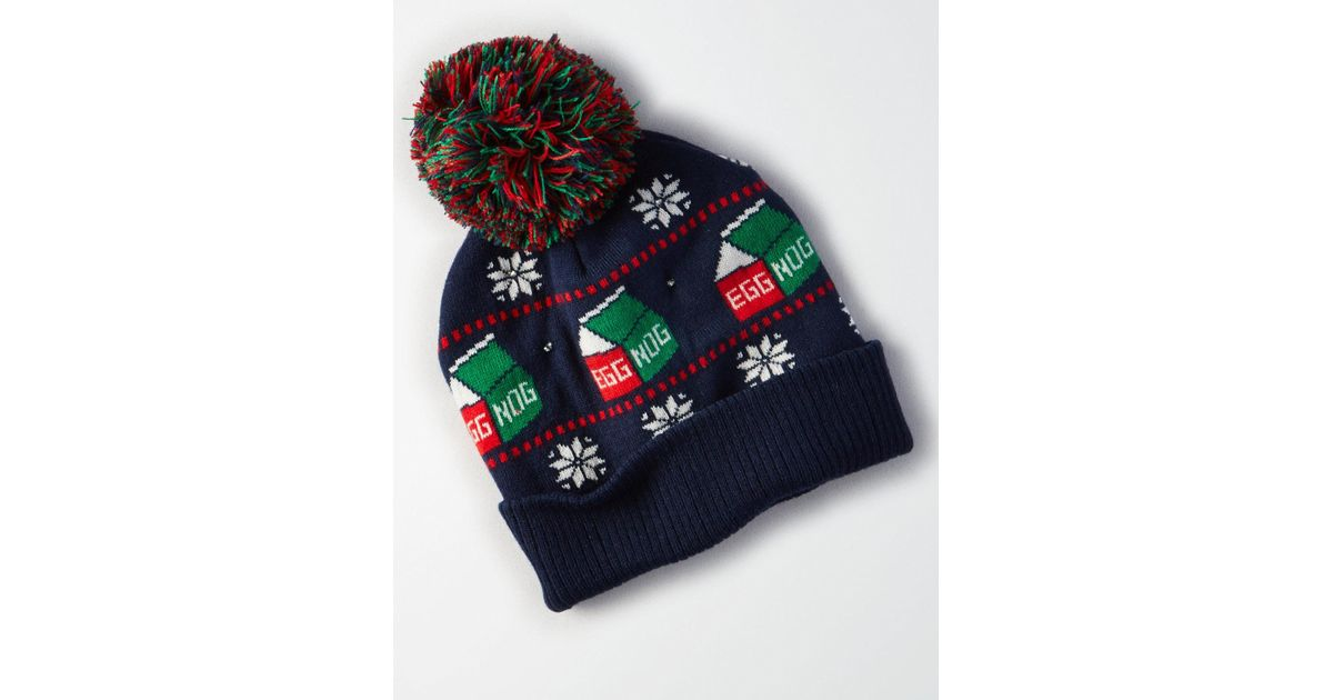 bf46acbeb2f32 Lyst - American Eagle Ae Light Up Egg Nog Beanie in Blue for Men