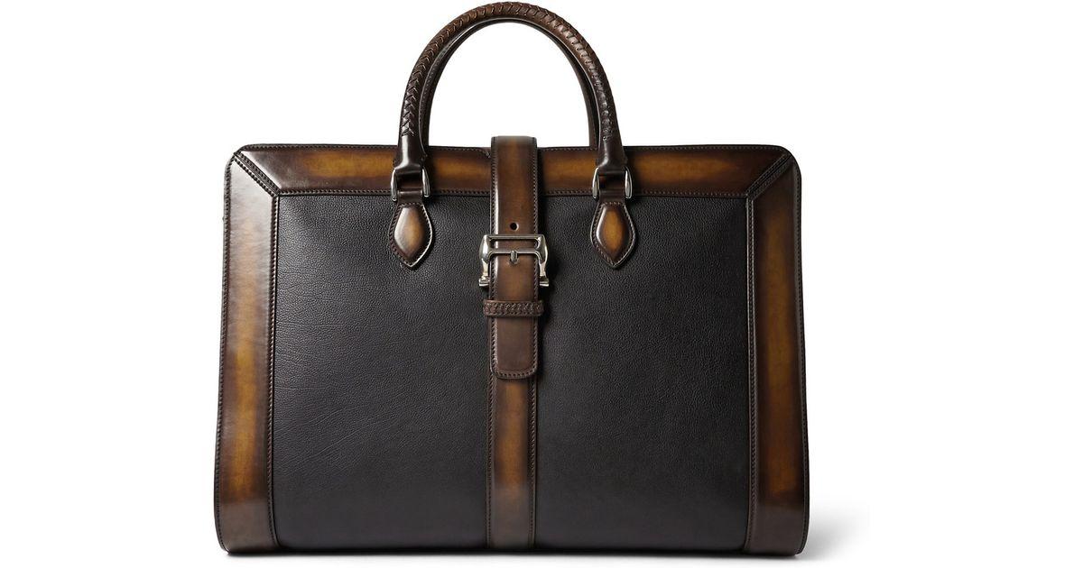 0c85da9776a7 Berluti Brown Venezia Leather Weekend Bag for men