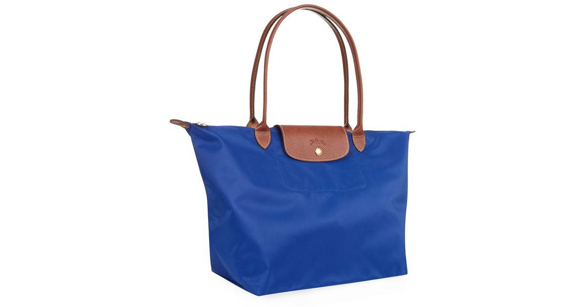 e9af976f7 Longchamp Le Pliage Large Shoulder Bag in Green - Lyst