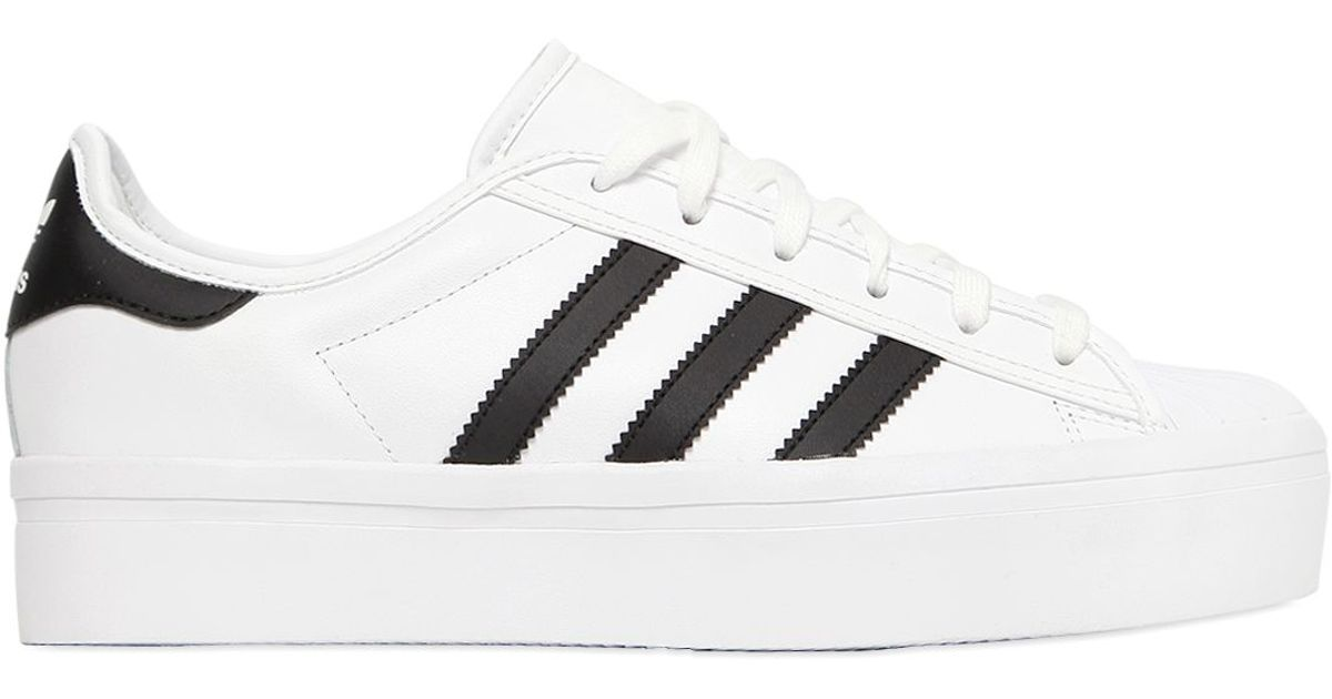official photos 2ea78 71899 Adidas Originals White Superstar Platform Leather Sneakers