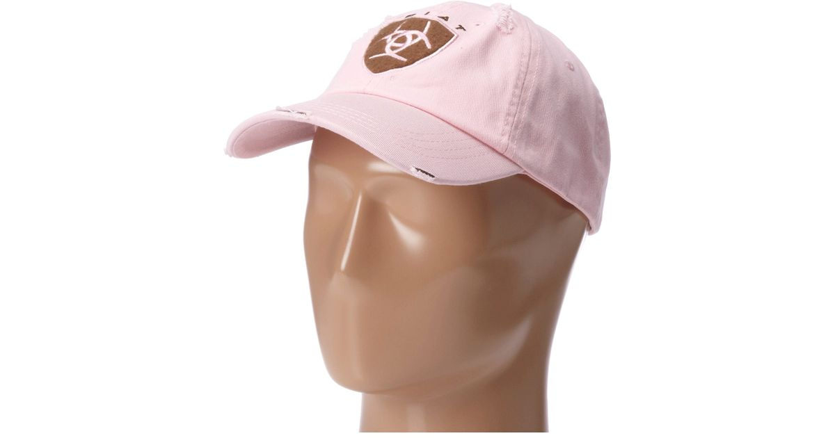 Lyst - Ariat Shield Baseball Cap in Pink 64923c83183