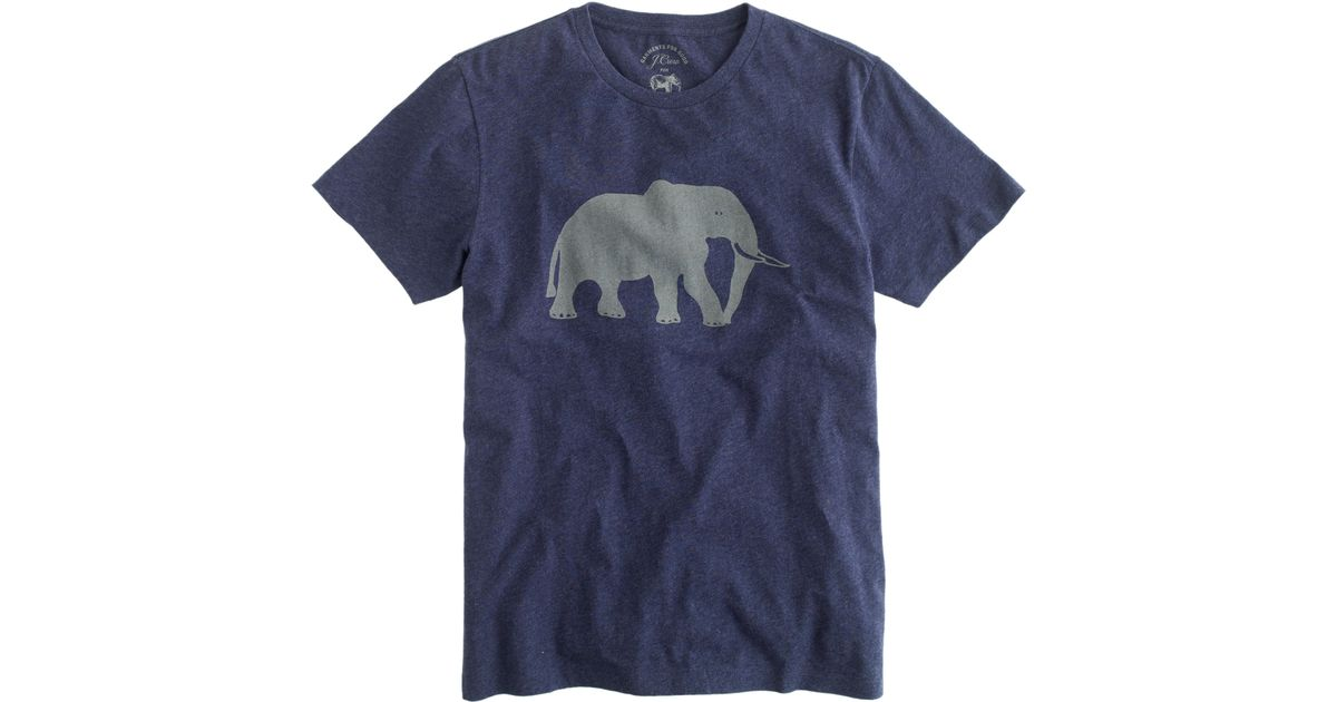 0c00c9499c126b Lyst - J.Crew Men s For David Sheldrick Wildlife Trust Elephant T-shirt in  Blue for Men