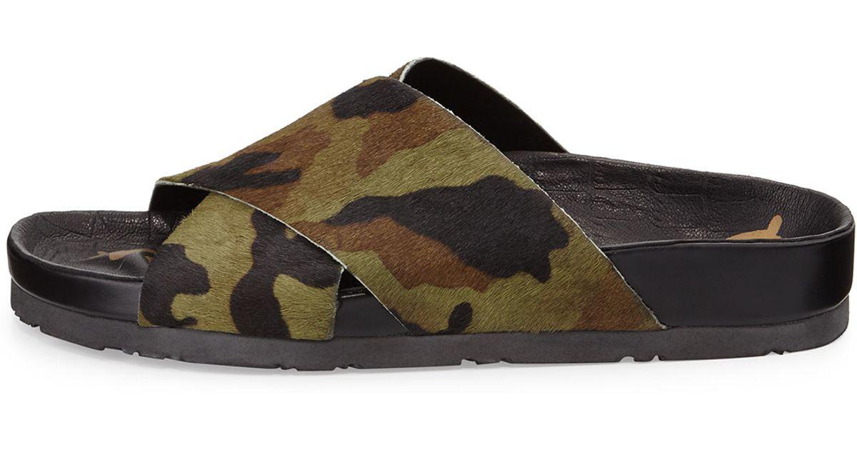 c7b12f941b61 Lyst - Sam Edelman Adora Calf-Hair Sandal in Green