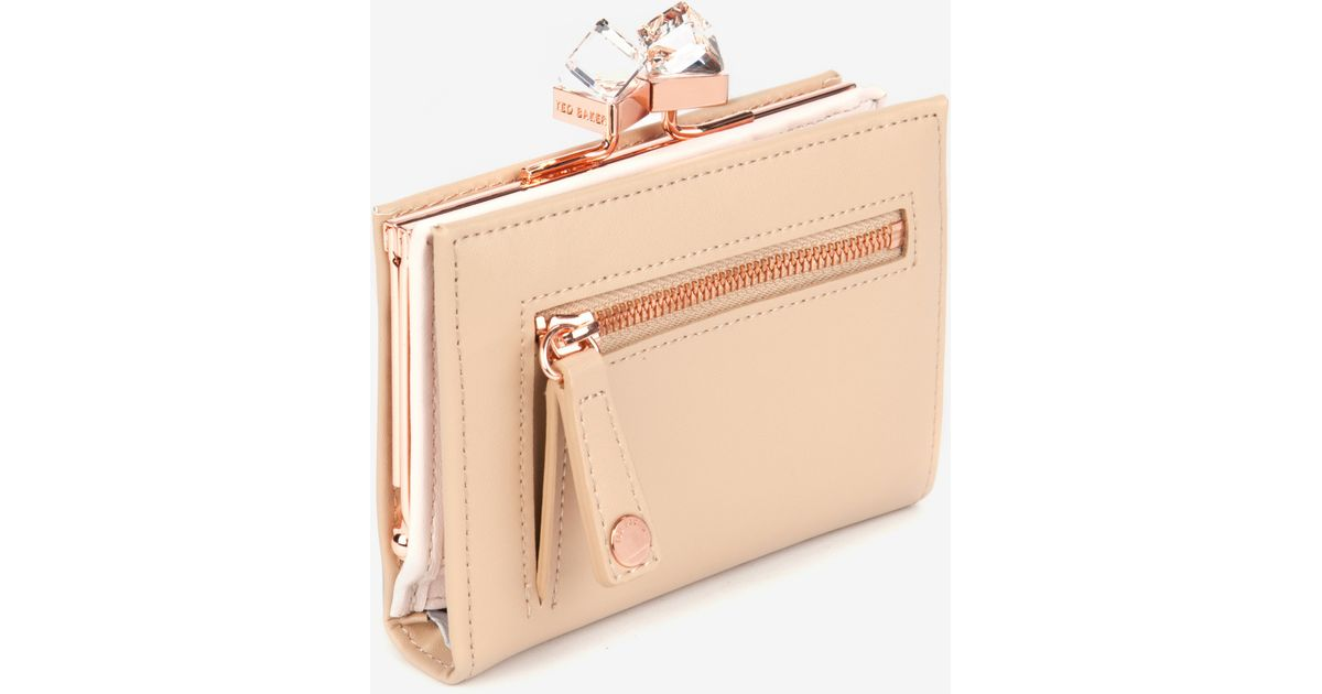 5c8de022cad9b5 Lyst - Ted Baker Small Square Crystal Purse in Natural