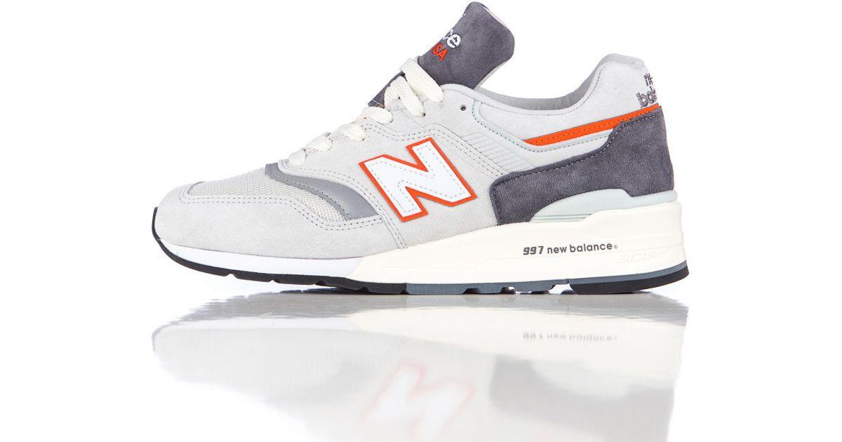 online store 63ee4 9d1b9 New Balance Gray M997csea In Grey/orange for men
