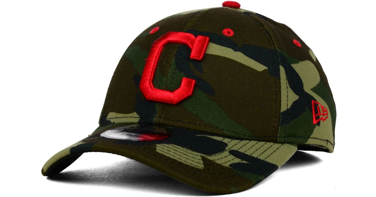 best service 178b3 4d89a ... canada lyst ktz cleveland indians camo classic 39thirty cap in green  for men 76a4c 8eb04