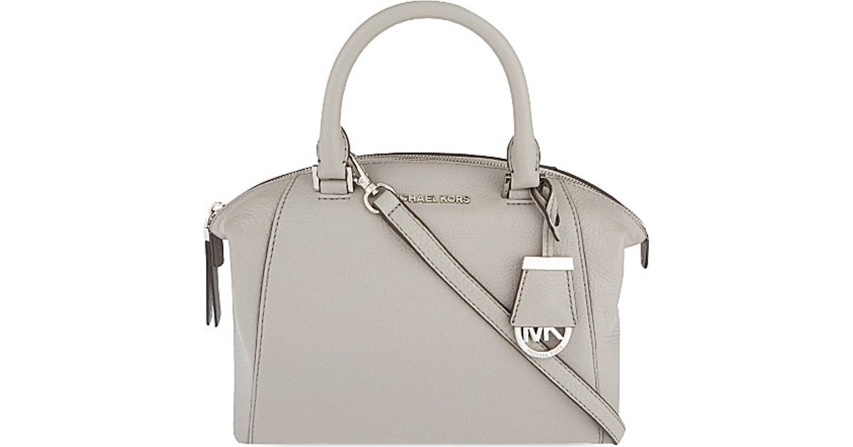 42365382bc MICHAEL Michael Kors Riley Small Leather Satchel Bag - For Women in Gray -  Lyst